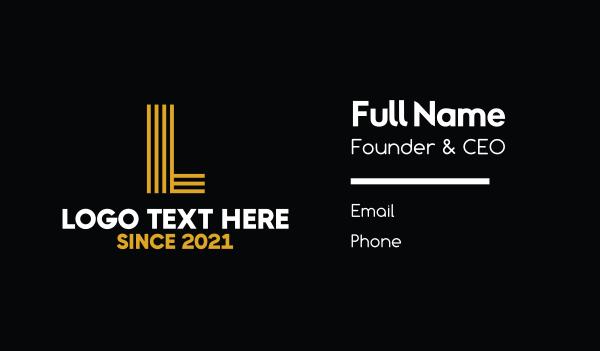 bargain - Yellow Letter  Business card horizontal design