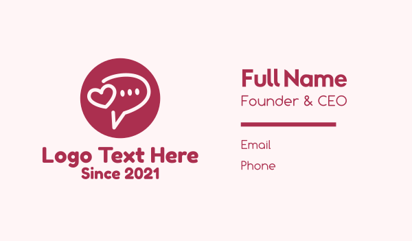 app icon - Flirty Love Message Chat Business card horizontal design