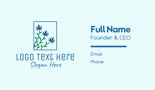 blossom - Blooming Garden Flowers  Business card horizontal design