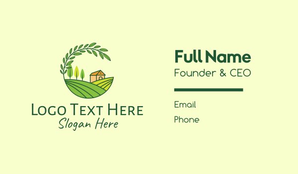 province - Countryside Farm Agriculture Business card horizontal design