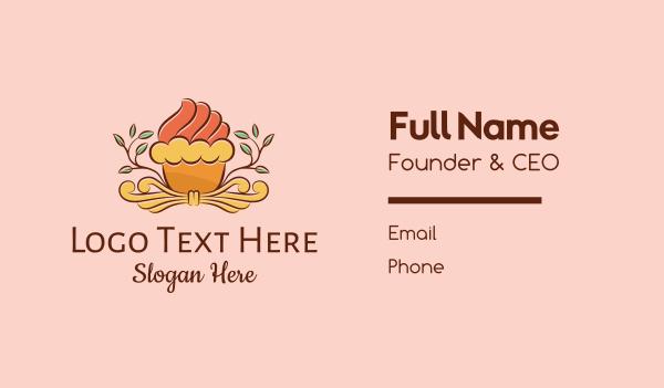 cake shop - Organic Cupcake Shop  Business card horizontal design
