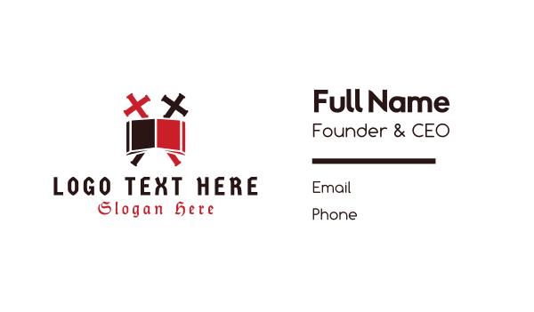 catholic - Biblical Cross  Business card horizontal design