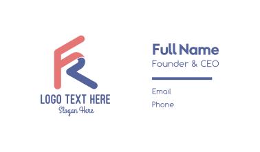 Letter FR Gaming Business Card
