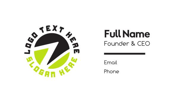 lettermark z - Circle Letter Z Business card horizontal design