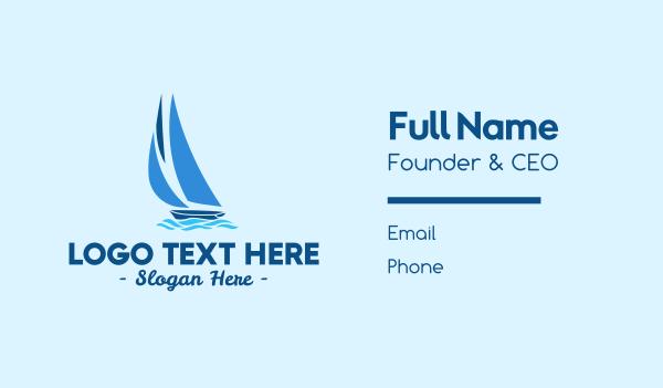 marine - Sailboat Boat Business card horizontal design