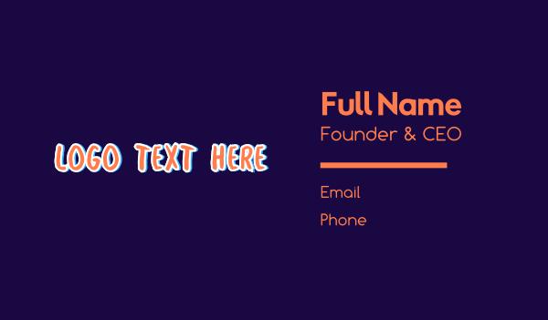 word - Graffiti Wordmark Business card horizontal design