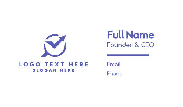 purple arrow - Statistics Finder Business card horizontal design