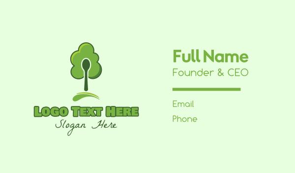 green spoon - Green Spoon Tree Business card horizontal design