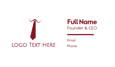 Red Tie Executive Business Card