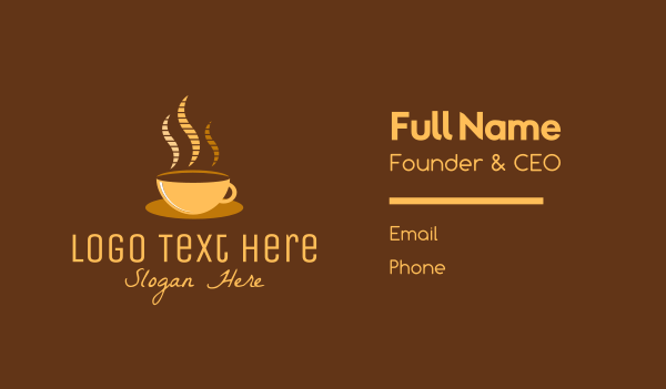 cup - Hot Coffee Cafe Business card horizontal design
