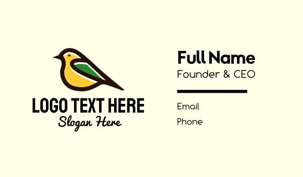 sparrow - Simple Pet Bird Business card horizontal design