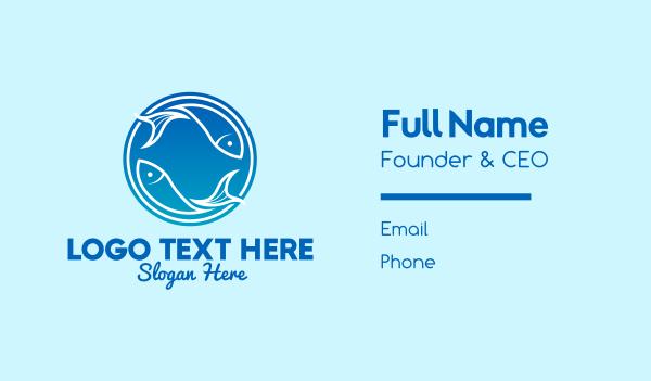 fisheries - Blue Fish Restaurant Business card horizontal design