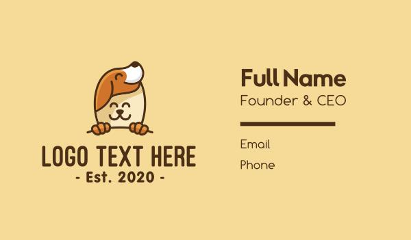 whelp - Happy Animal Pets Business card horizontal design