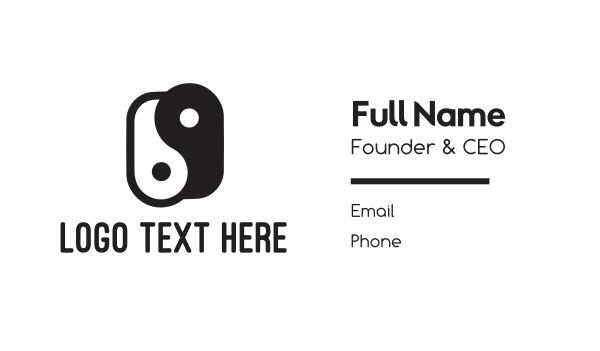 feng shui - Modern Yin & Yang Business card horizontal design
