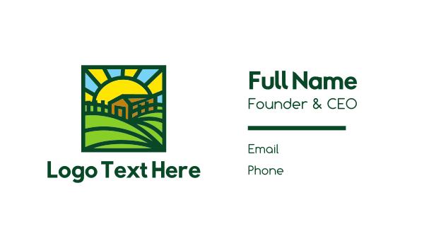 creamery - Sunny Farmhouse Business card horizontal design