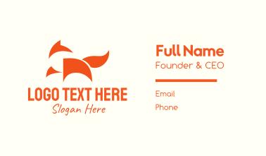 Minimalist Orange Fox Business Card