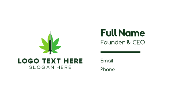 marijuana - Cannabis Medic  Business card horizontal design