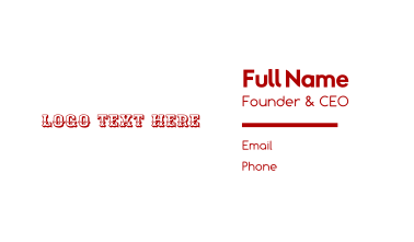 Western & Traditional Business Card