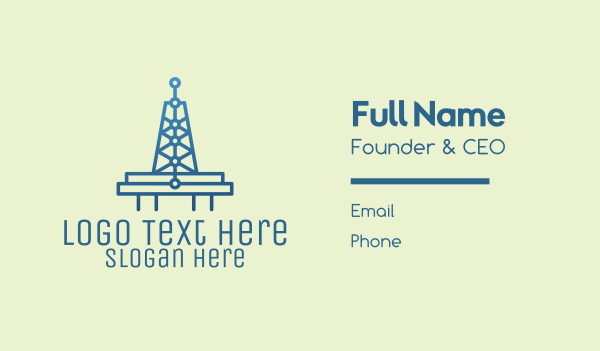 data center - Blue Signal Tower Business card horizontal design