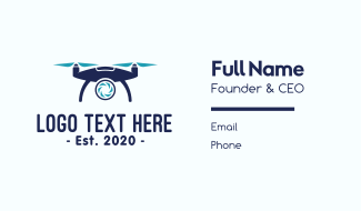 Digital Drone Photography Business Card