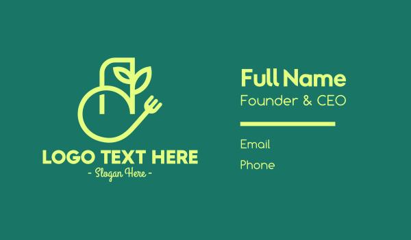 food delivery service - Vegan Food App Business card horizontal design