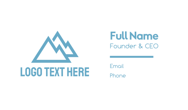 blue triangle - Blue Mountains Business card horizontal design