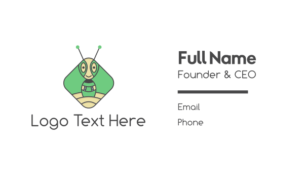 pest - Martian Ant Business card horizontal design