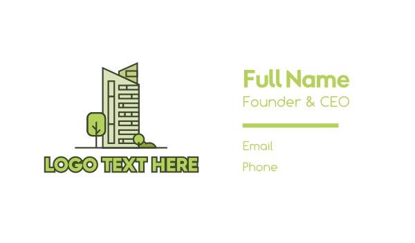 real estate development - Eco City Builder Business card horizontal design