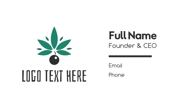 prohibited - Abstract Cannabis Bomb Business card horizontal design