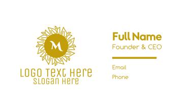Luxurious Stroke Pattern Lettermark Business Card