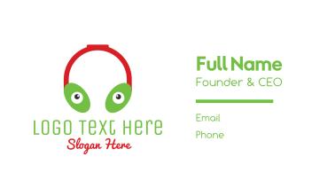 Alien Headphones Business Card