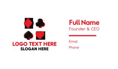 Casino Card Game Business Card