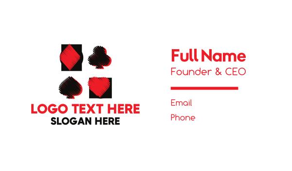 poker - Casino Card Game Business card horizontal design