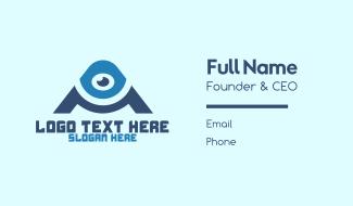 Optical Eye Letter A Business Card