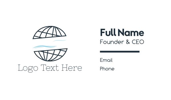 foundations - Abstract World Atlas Globe Business card horizontal design
