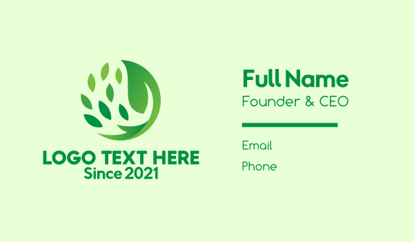 environment - Herbal Leaf Spa Business card horizontal design