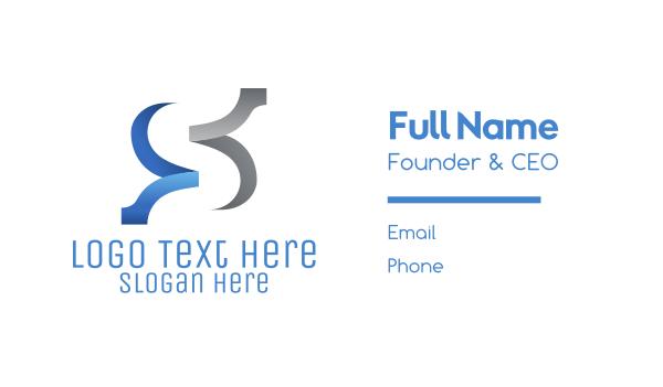 financial planning - Elegant Ribbons Business card horizontal design