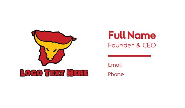 hispanic - Spain Bull Business card horizontal design