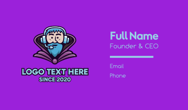 Gaming Wizard Character Business Card