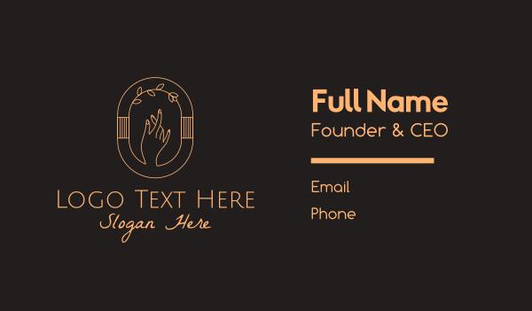 nails - Feminine Beauty Hand Spa Business card horizontal design