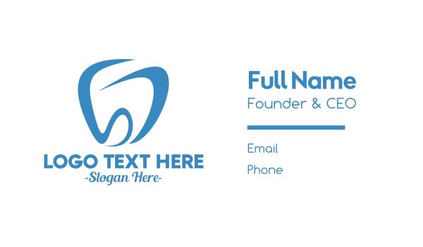 blue tooth - Dental S & D Business card horizontal design