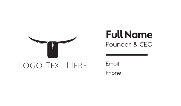 longhorn - Online Bull Business card horizontal design