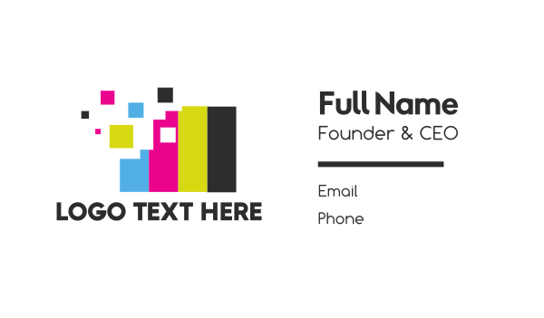 press - Pixel Colors Business card horizontal design