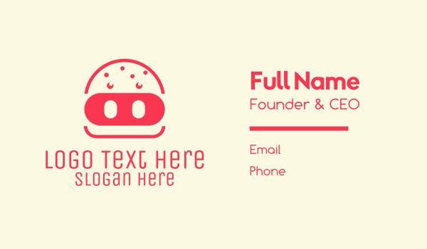 food delivery - Pork Burger Restaurant  Business card horizontal design