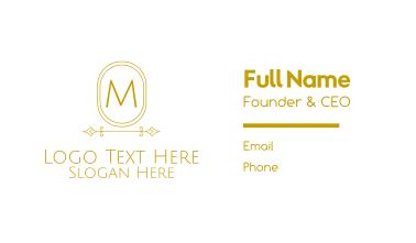 Minimalistic Stroke Lettermark Business Card