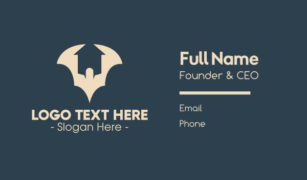 nocturnal - Bat House Business card horizontal design