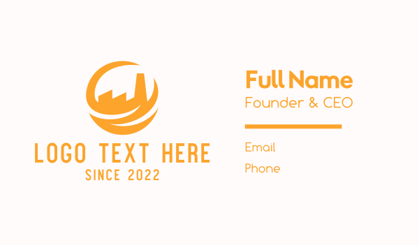 refinery - Yellow Factory Business card horizontal design