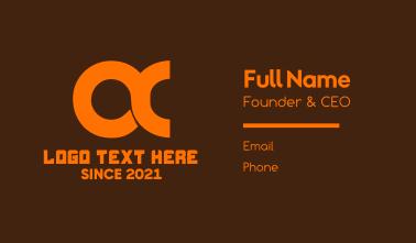 Orange Gaming Clan O & C  Business Card