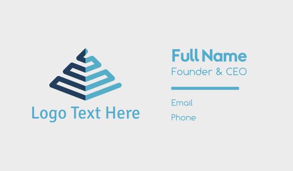 maya - Blue Pyramid Business card horizontal design