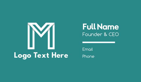 men accessories - Modern White Letter M Business card horizontal design
